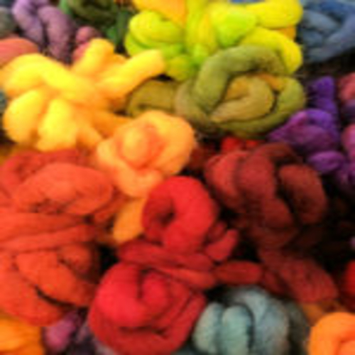 Hand Dyed Wool Roving 5metres